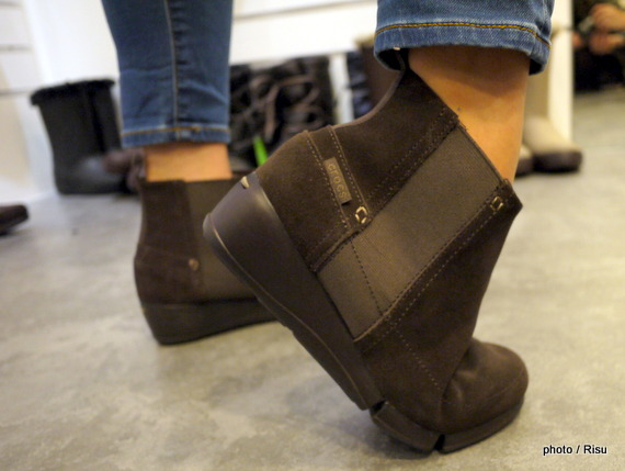 stretch sole wedge bootie w-クロックス2015新作ブーツ